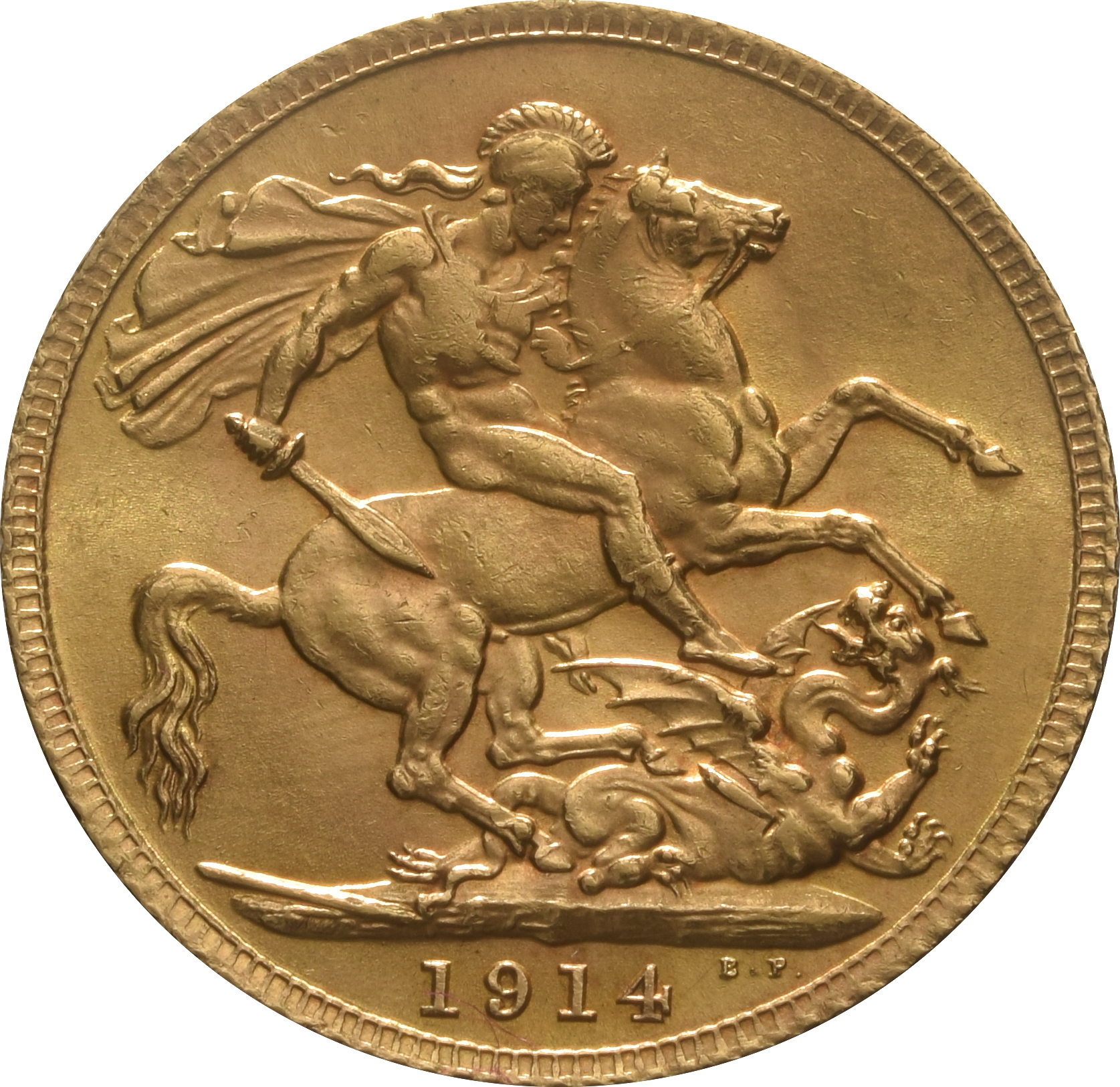 1914 Gold Sovereign King George V London 163 323