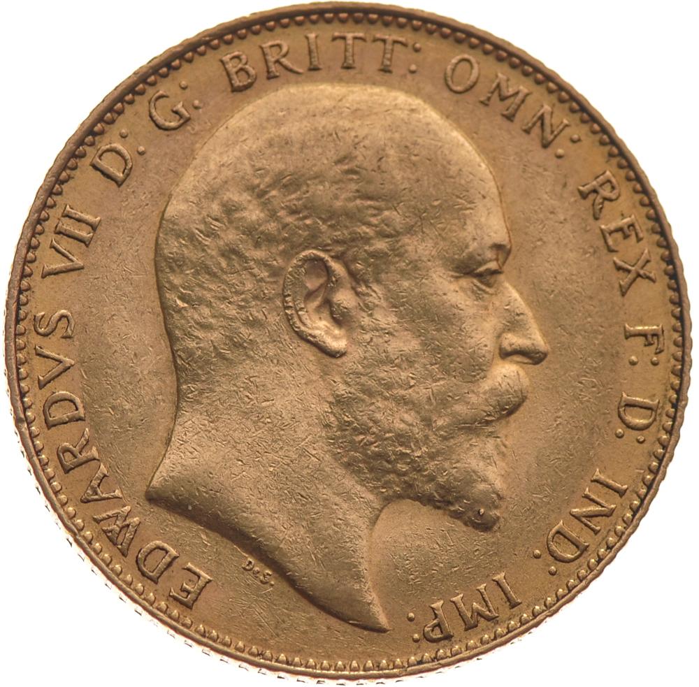 1910 Gold Sovereign King Edward Vii M 163 350