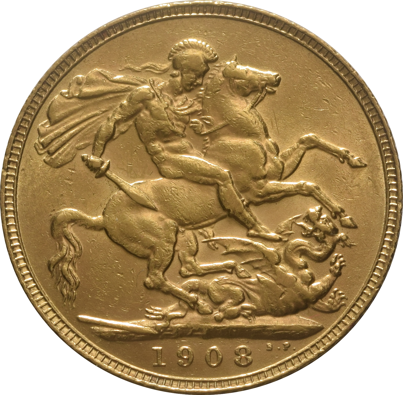 1908 Gold Sovereign King Edward Vii London 163 294