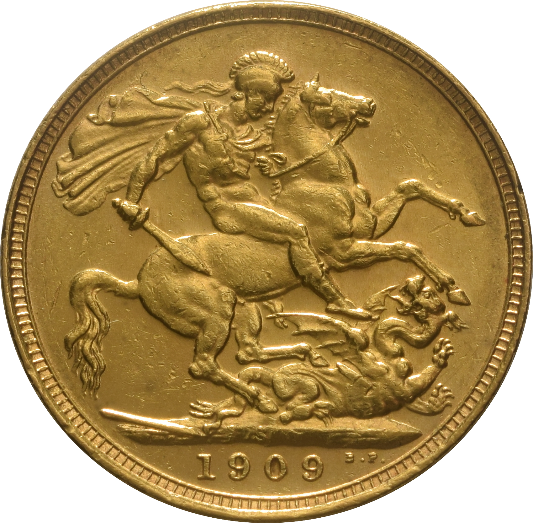 1909 Gold Sovereign King Edward Vii S 163 290