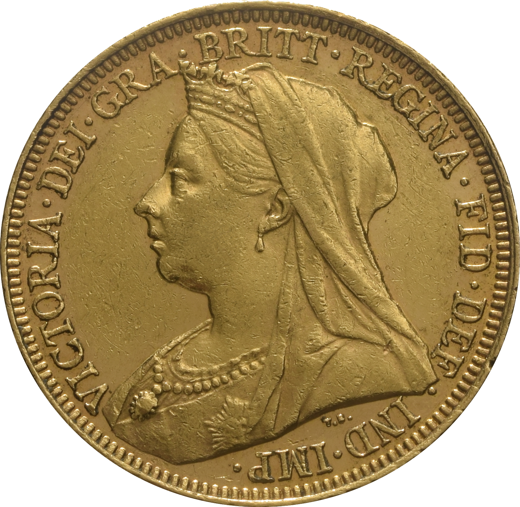 1896 Gold Sovereign Victoria Old Head S 163 353