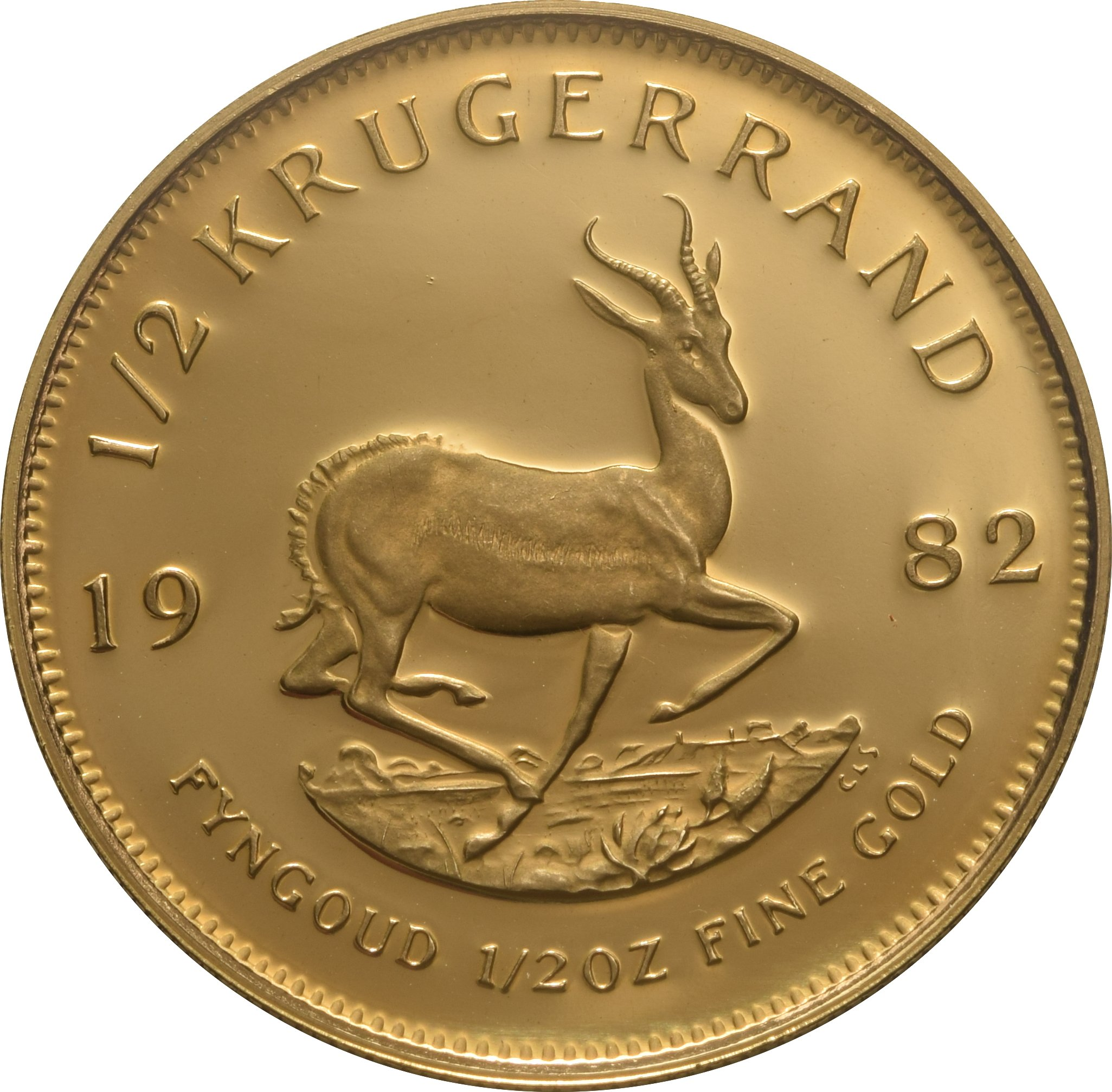1982 Proof Half Ounce Krugerrand Gold Coin