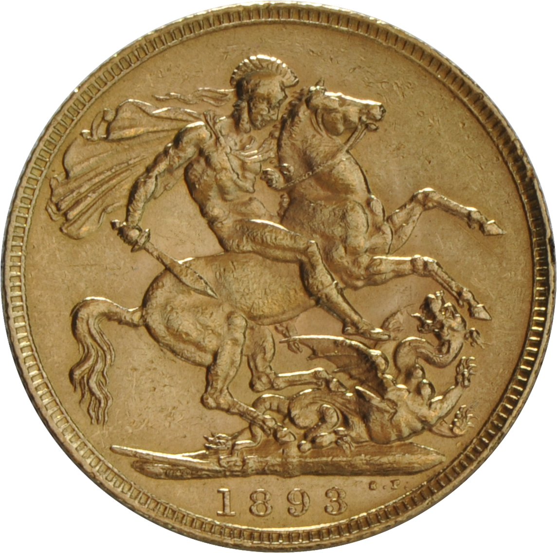 1893 Gold Sovereign Victoria Old Head London 163 330