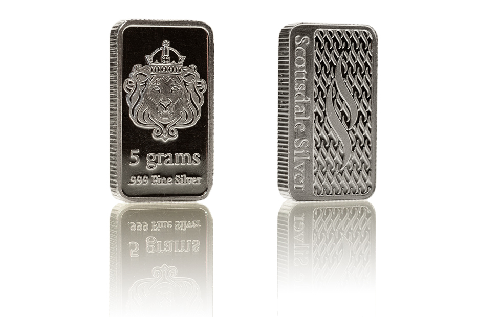Buy Scottsdale 5g Silver Bar Bullionbypost 174 From 163 6 76