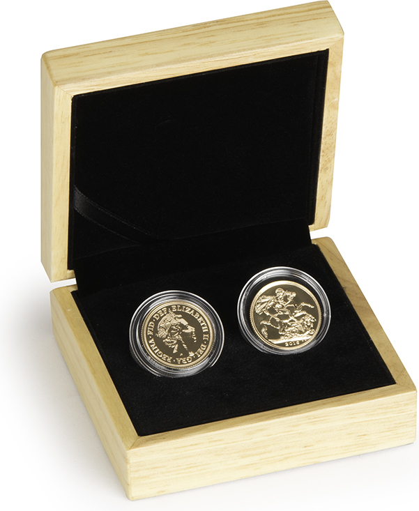 Two 2016 Sovereign Gold Coin in Gift Box