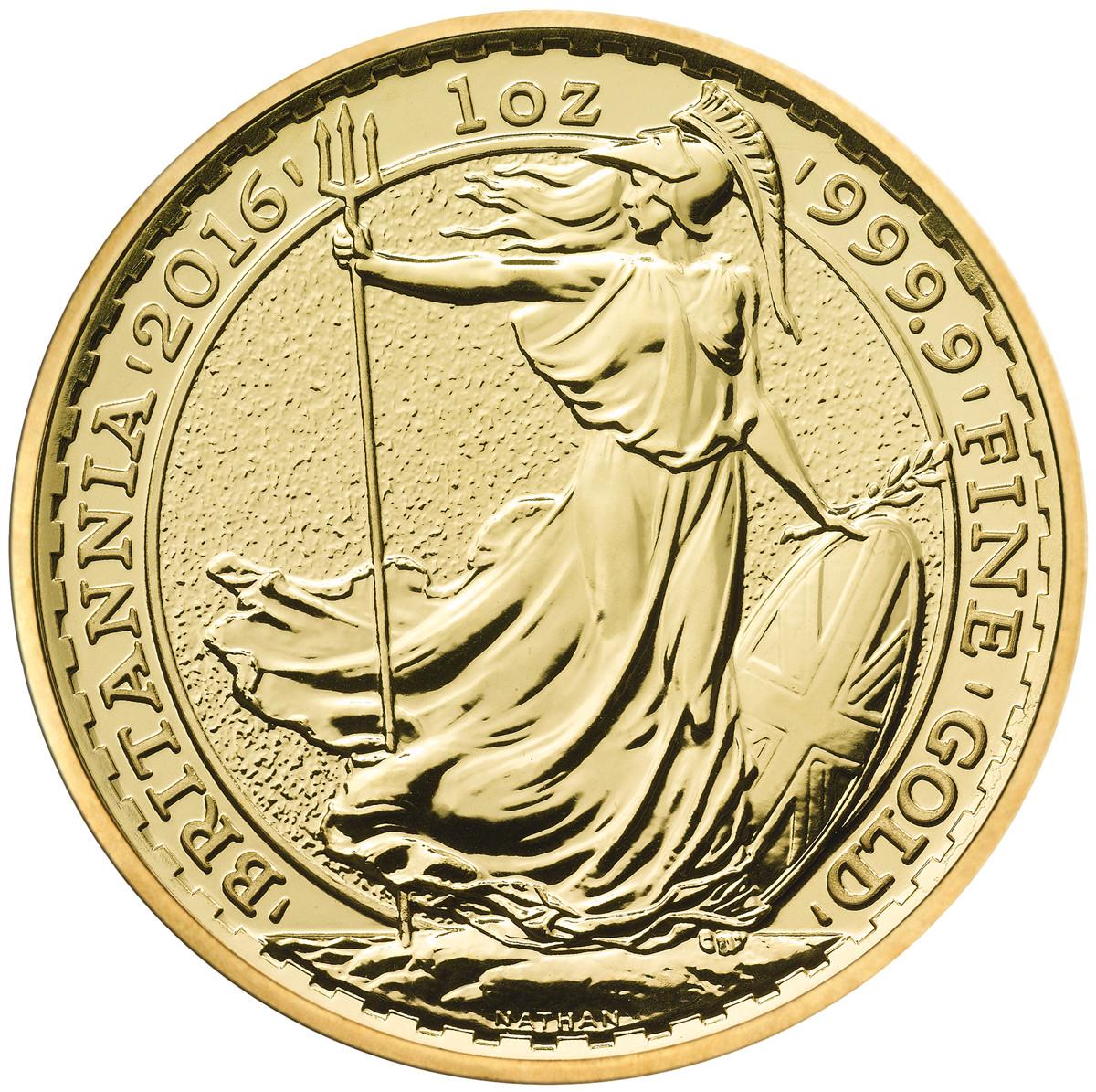 2016 Britannia One Ounce Gold Coin