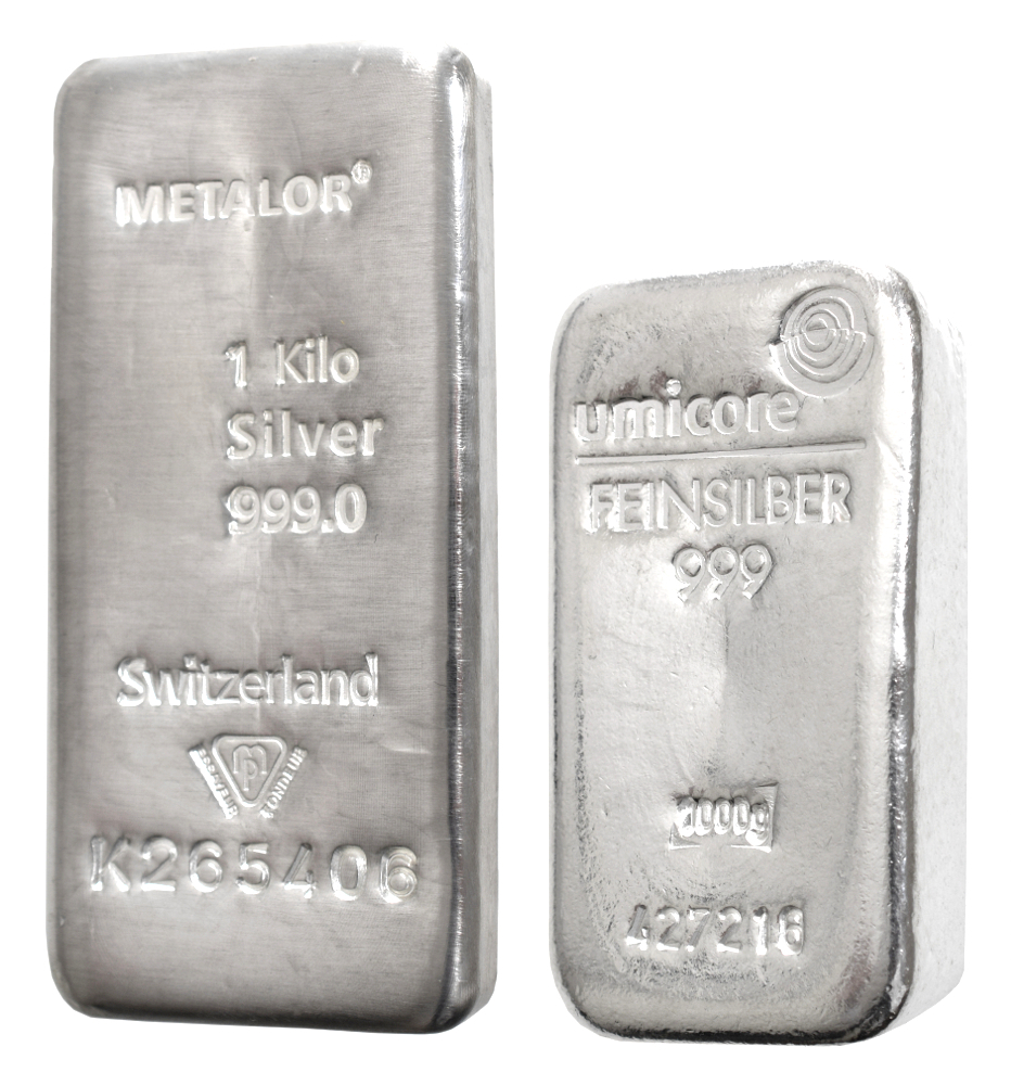 VAT FREE for Storage - 1 Kilo Silver Bullion Bar