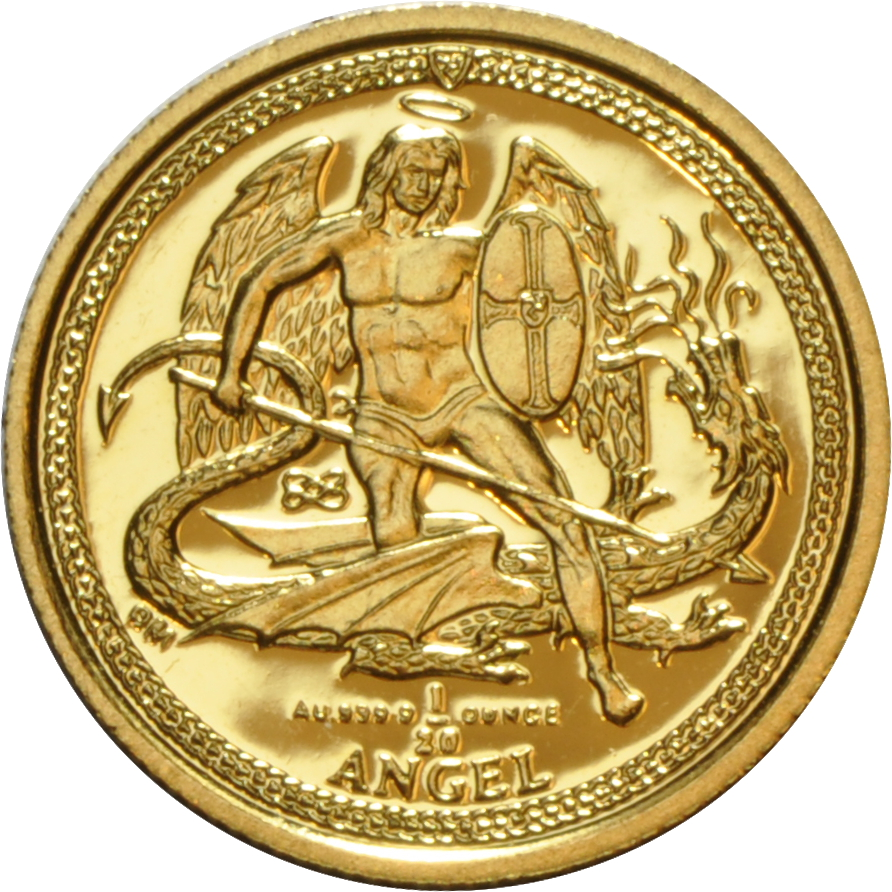 Buy Twentieth Ounce Isle Of Man Angel Gold Coins From
