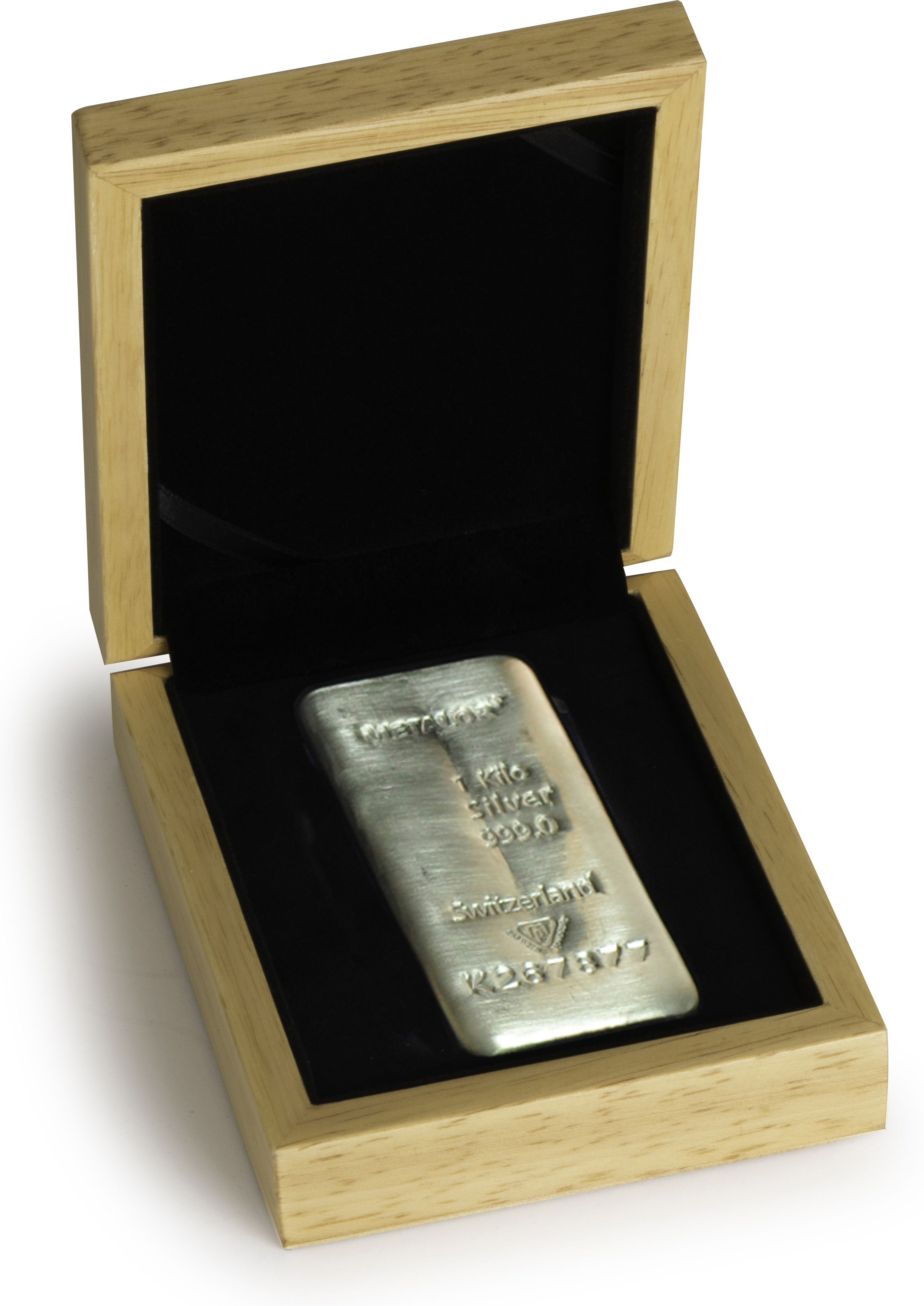 Metalor 1 Kilo Silver Bullion Bar in Gift Box