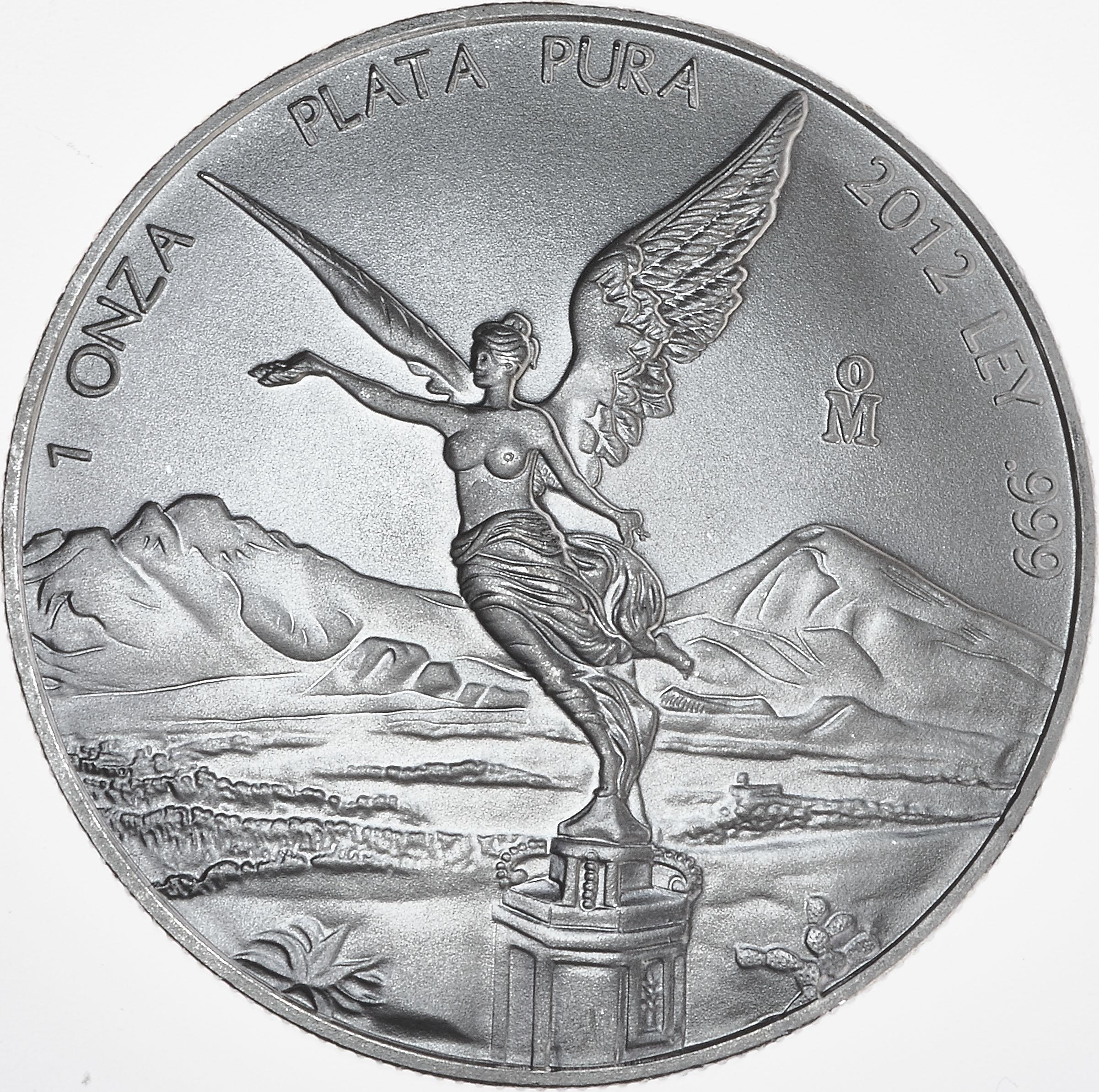 1oz Mexican Libertad Silver Coin 2012