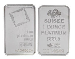 VAT FREE for Storage - 1oz Platinum Bar