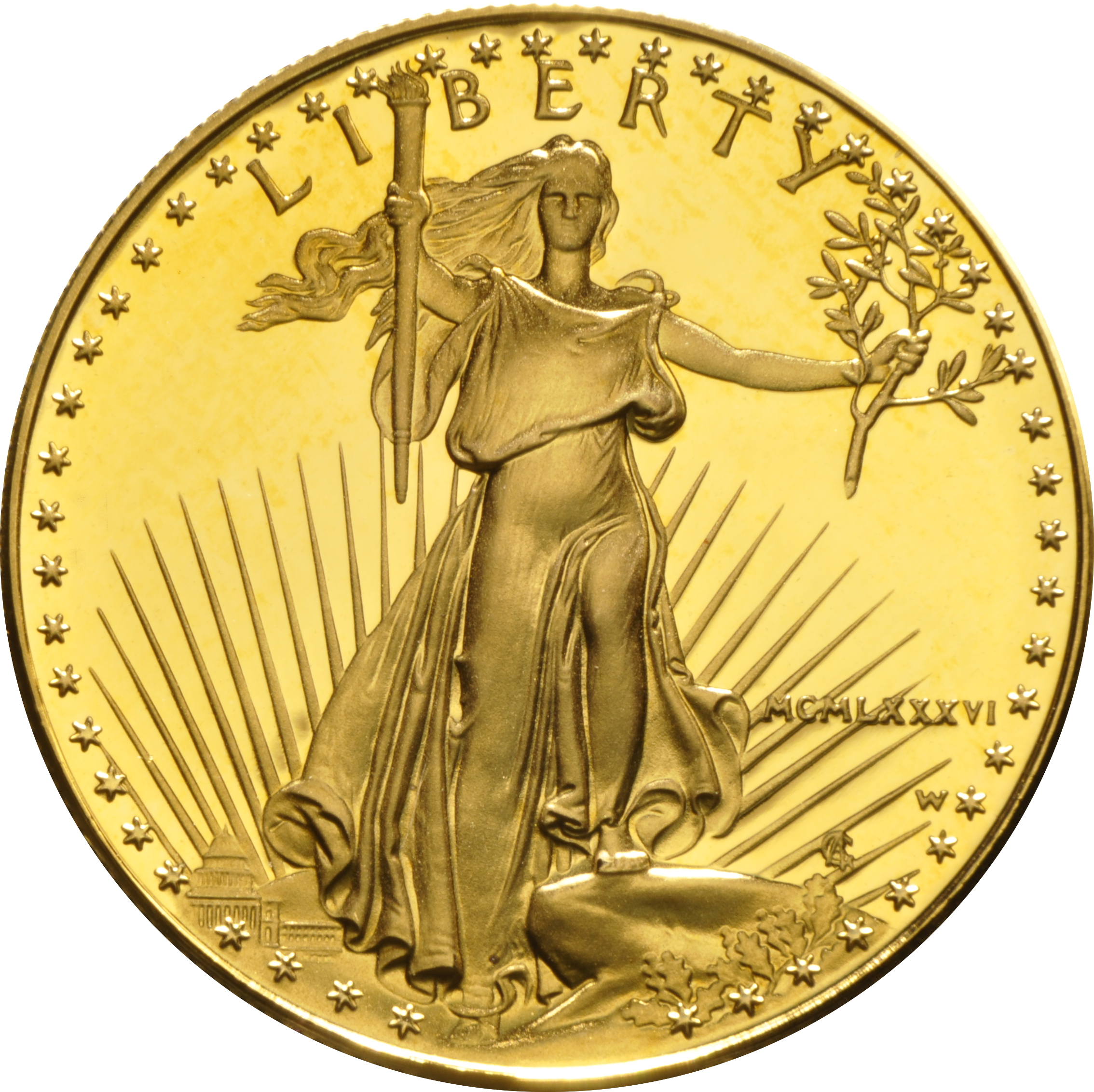 1986 Proof 1oz American Eagle Gold Coin 163 1 442