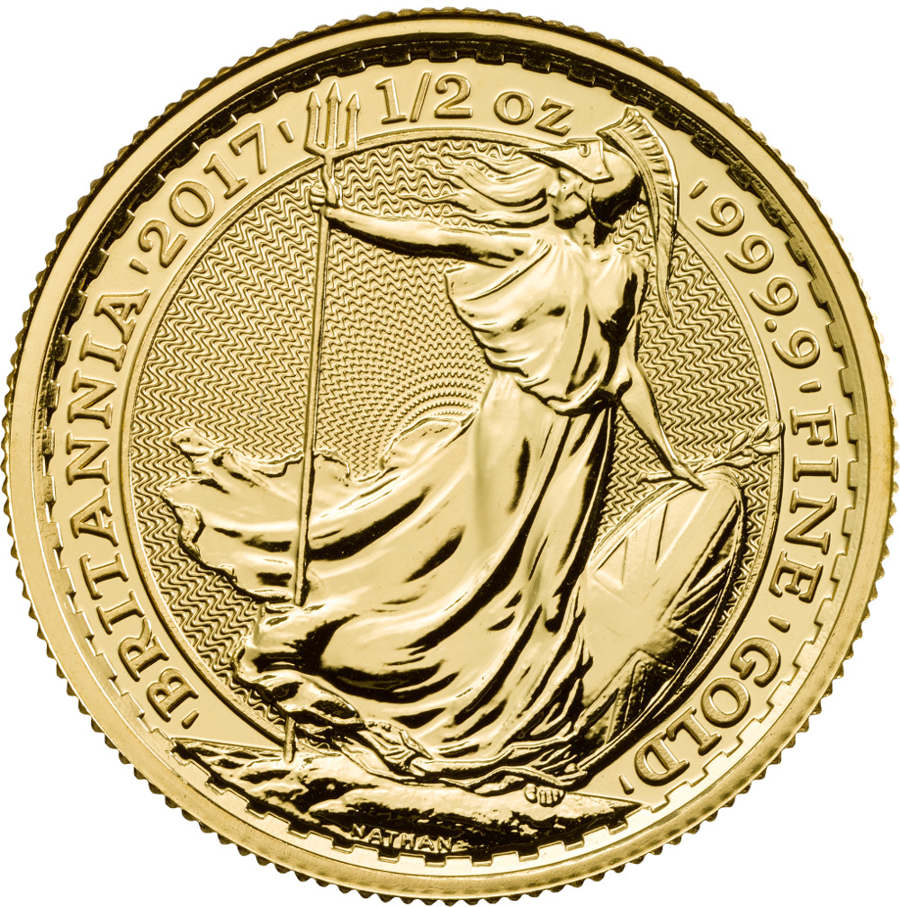 2017 Half Ounce Britannia Gold Coin 163 547