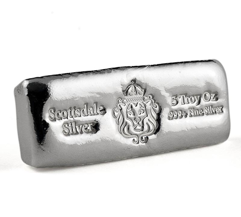 5oz Scottsdale Silver Cast Bar