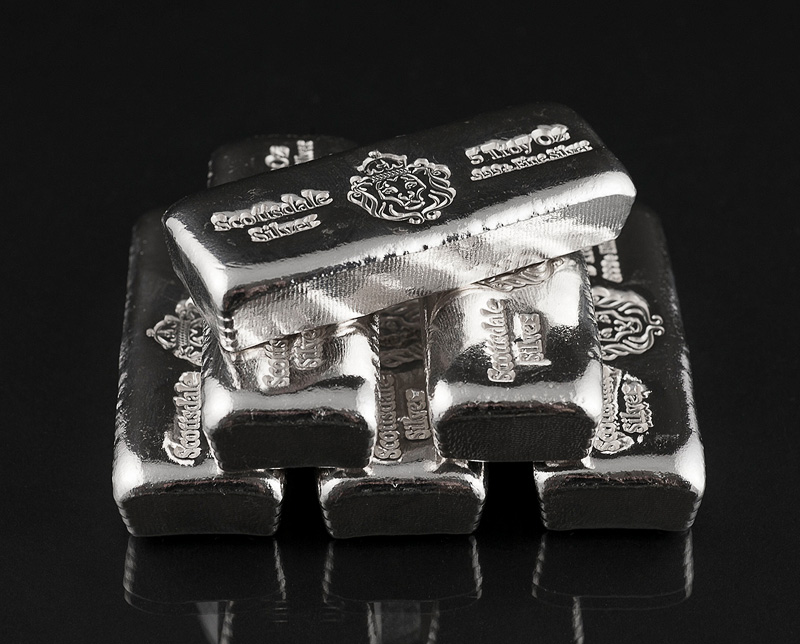 Buy 5oz Silver Scottsdale Bar From Bullionbypost From