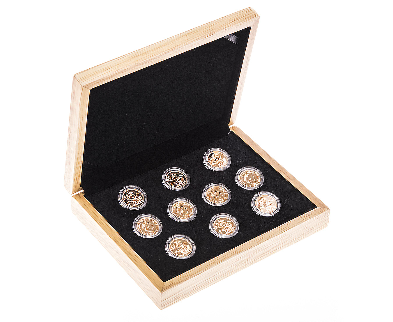 Ten 2017 Sovereign Gold Coin in Gift Box