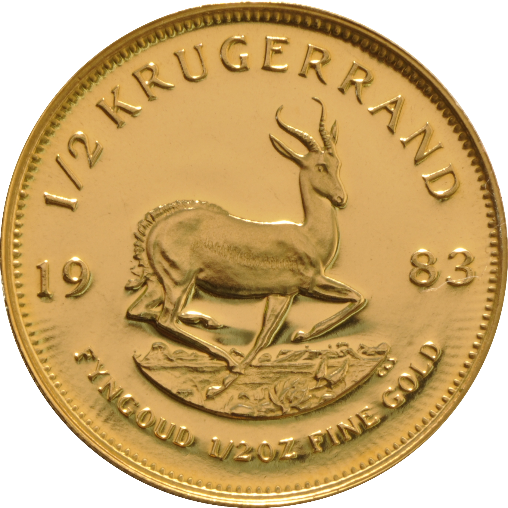 1983 Proof Half Ounce Krugerrand Gold Coin 163 596
