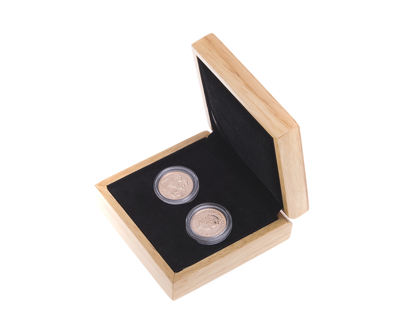 Two 2017 Sovereign Gold Coin in Gift Box