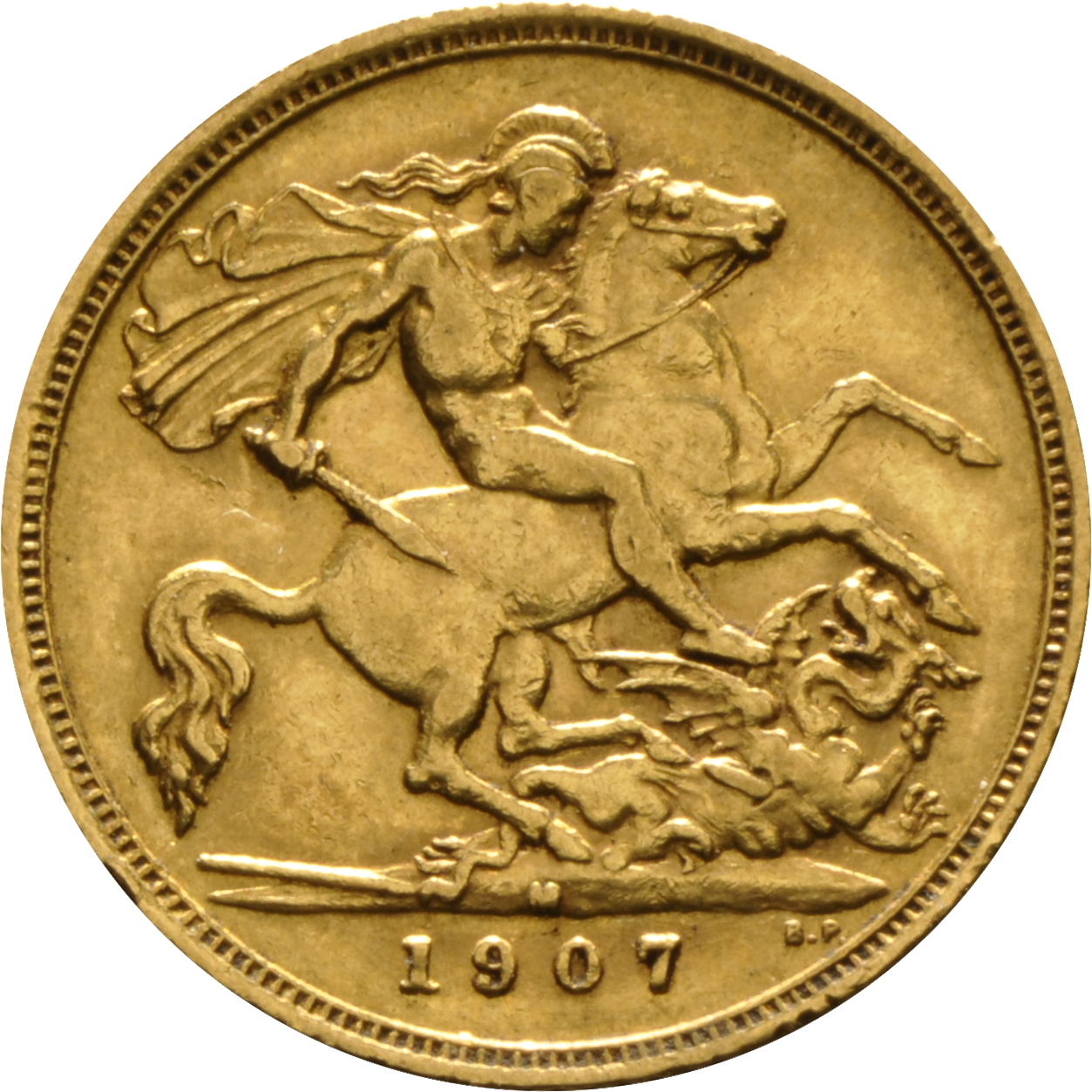 1907 Gold Half Sovereign King Edward Vii M 163 162