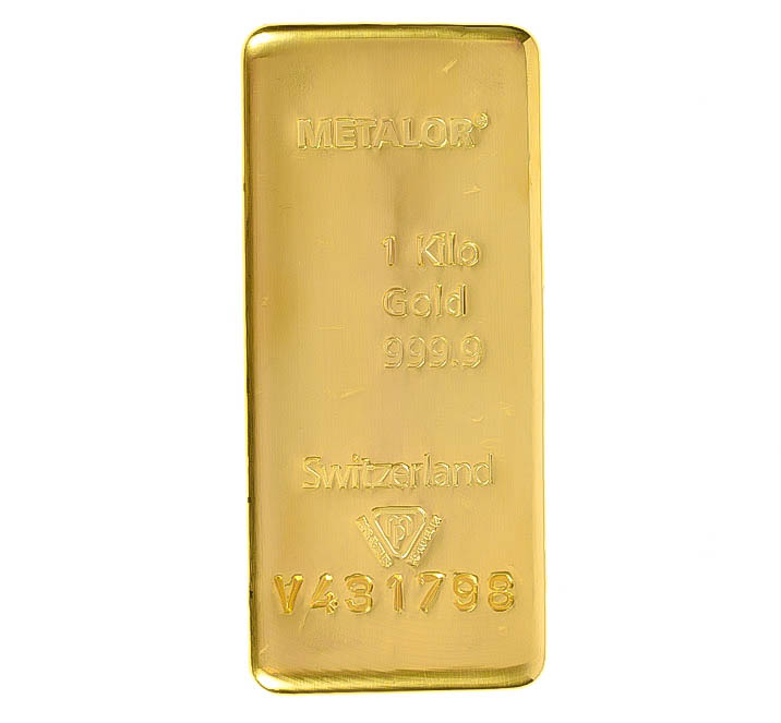 Metalor 1kg Gold Investment Bars Bullionbypost From 163