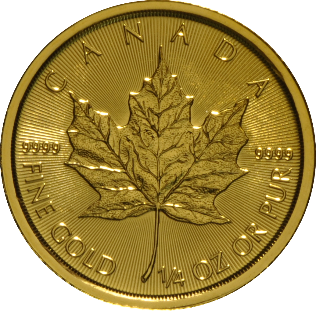 2017 Quarter Ounce Gold Canadian Maple