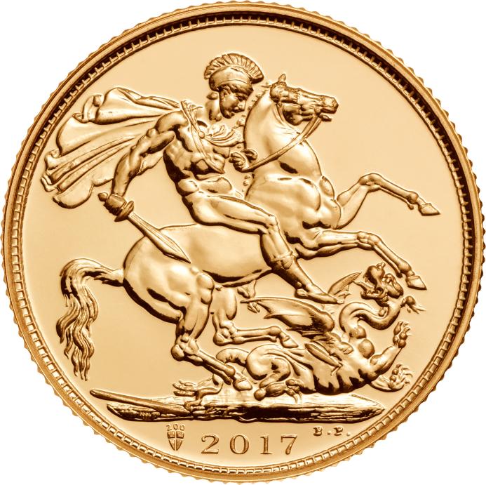 2 x 2017 Gold Sovereign Coins