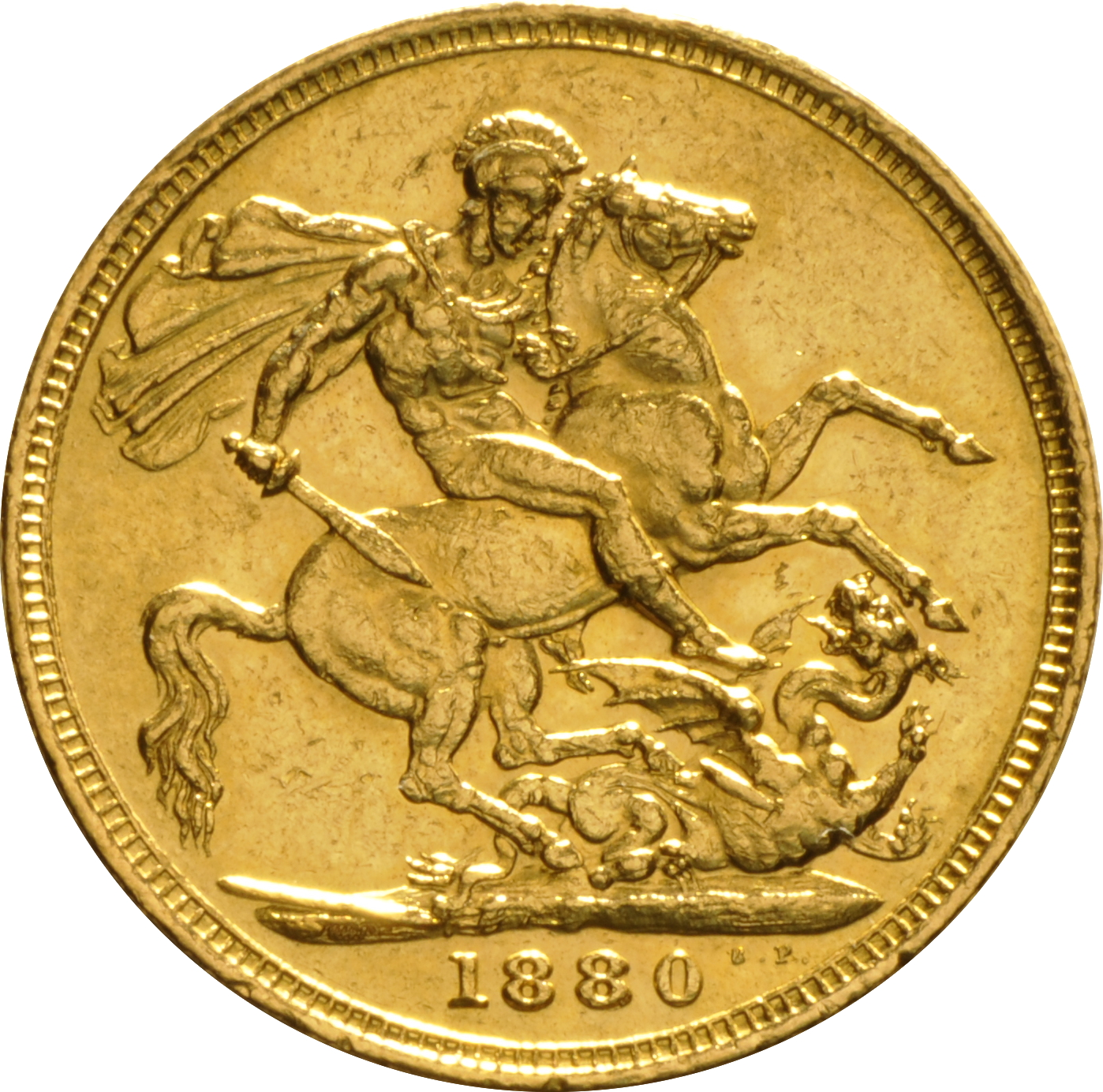 1880 Gold Sovereign Victoria Young Head M 163 408