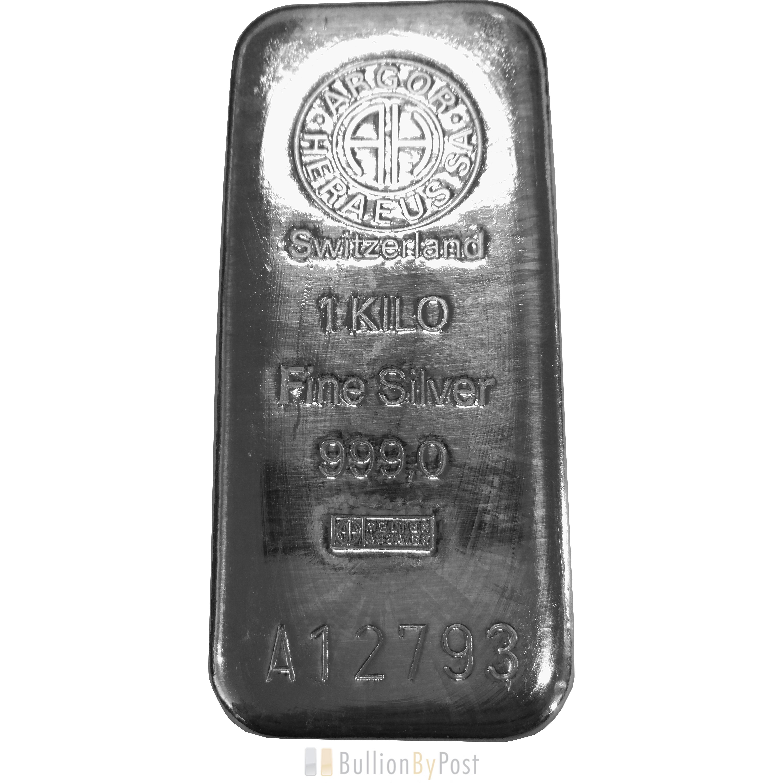 Kilo Silvers: Argor Heraeus 1kg Kilo Silver Bar