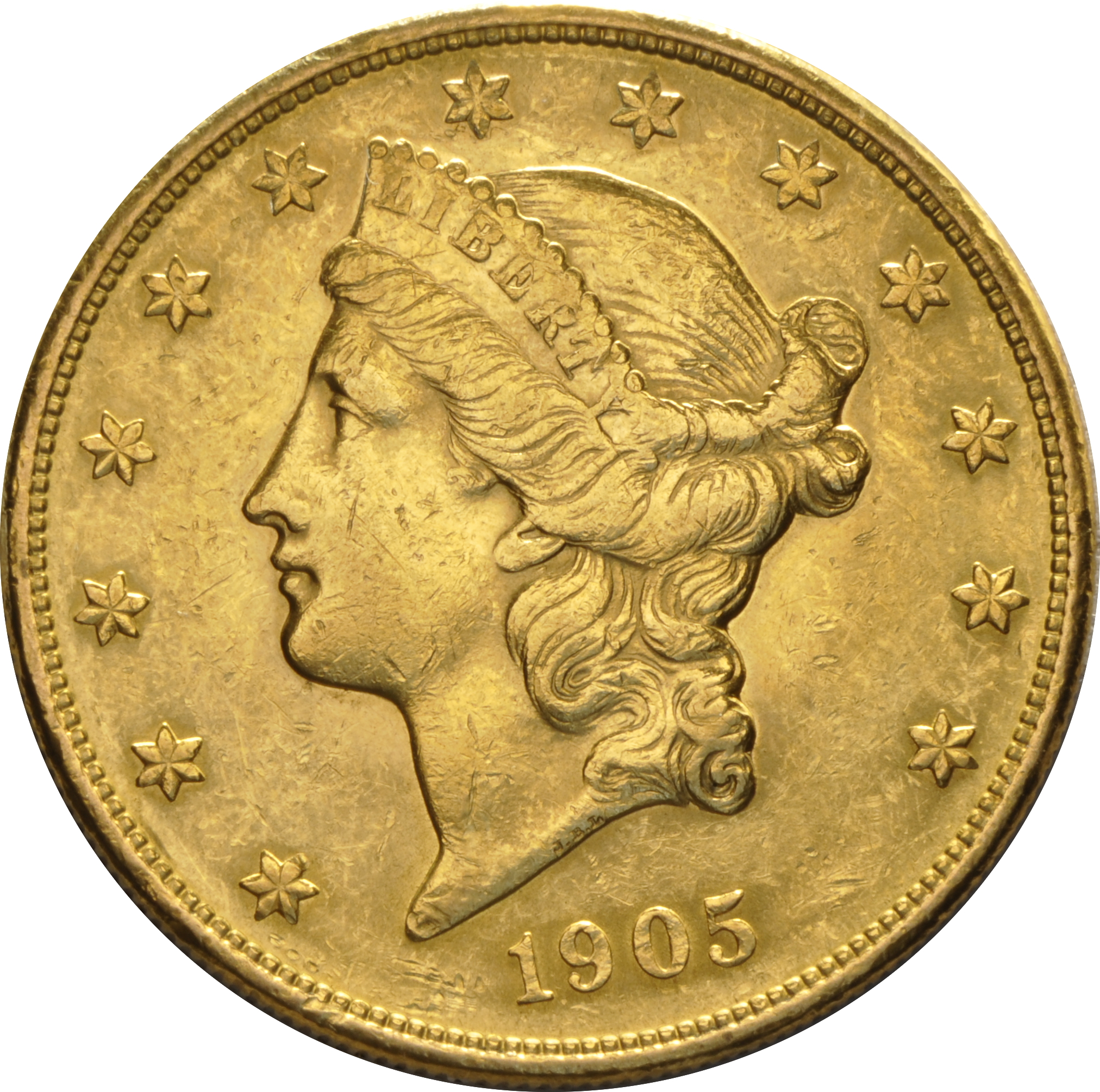 1905 20 Double Eagle Liberty Head Gold Coin San