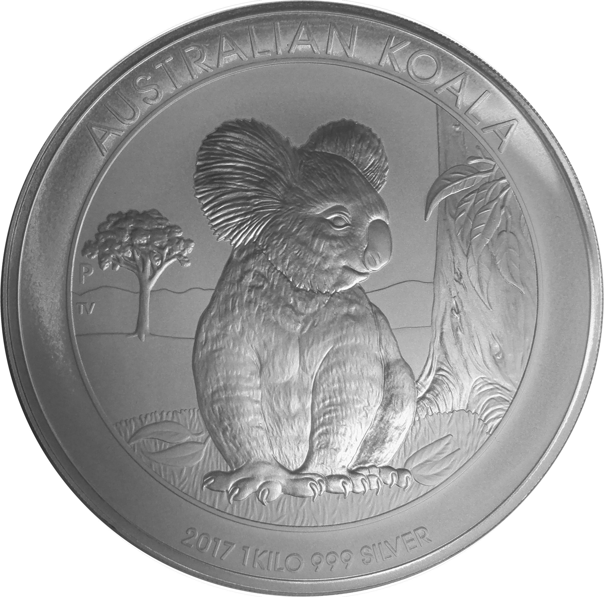 2017 1kg Silver Australian Koala