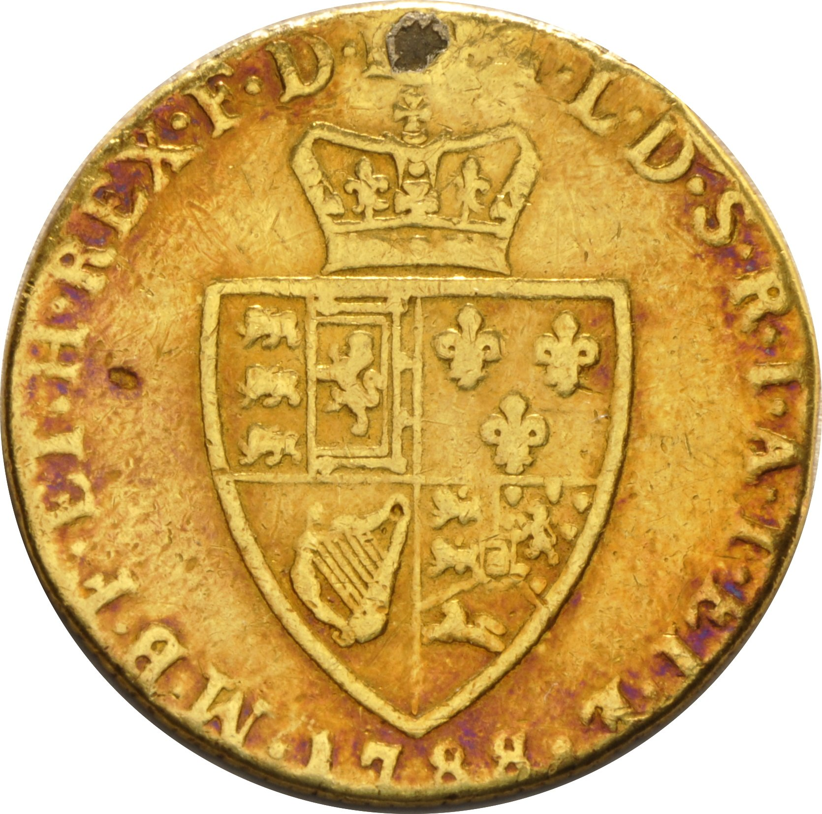 1788 George Iii Guinea Gold Coin 163 287