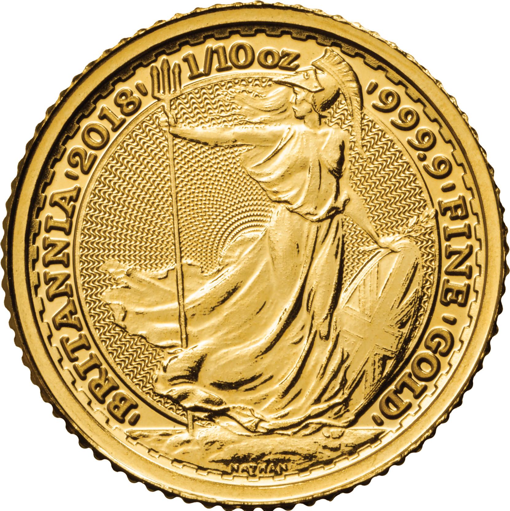 2018 Tenth Ounce Gold Britannia 163 112