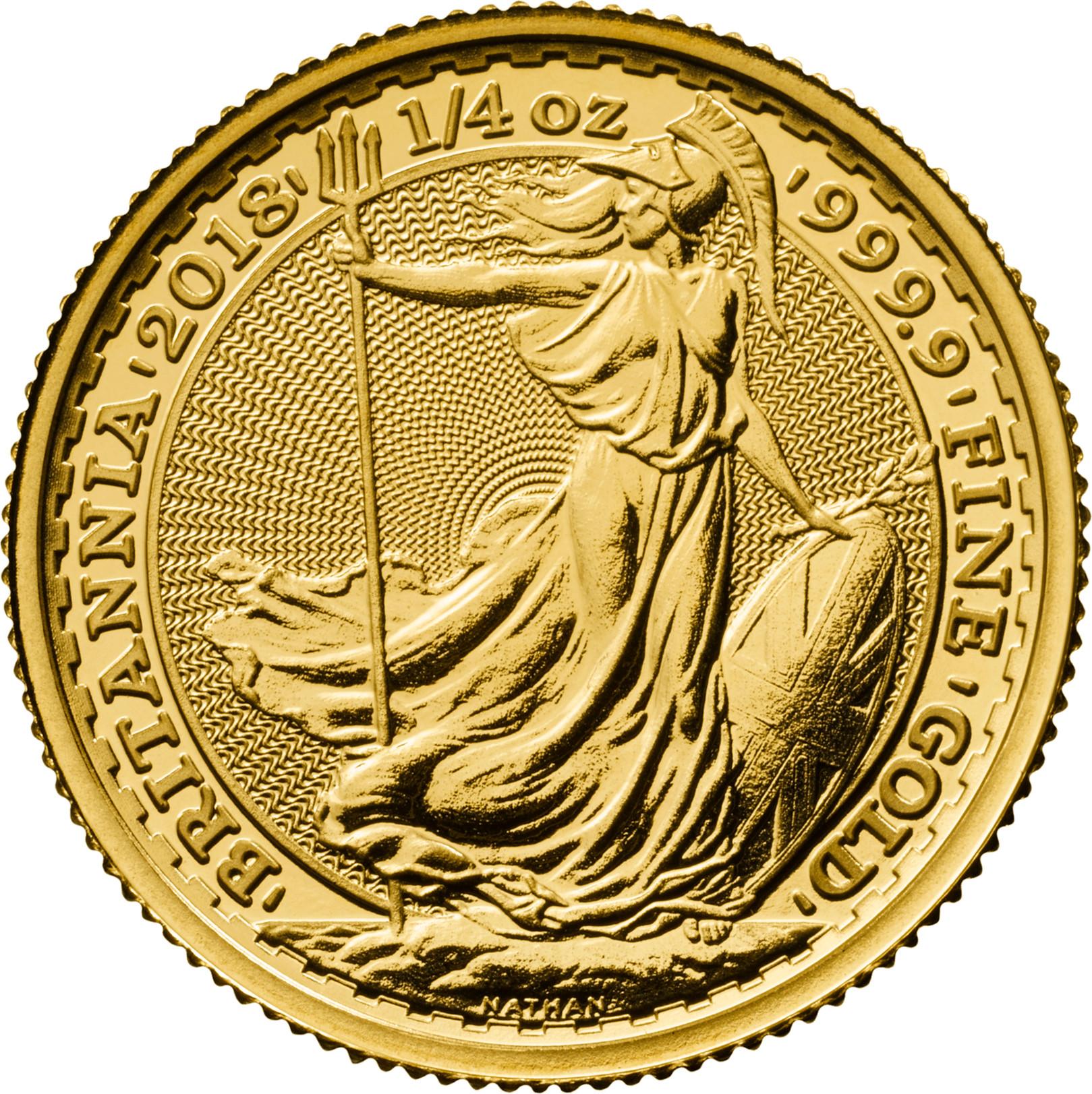 2018 Quarter Ounce Britannia Gold Coins 163 269