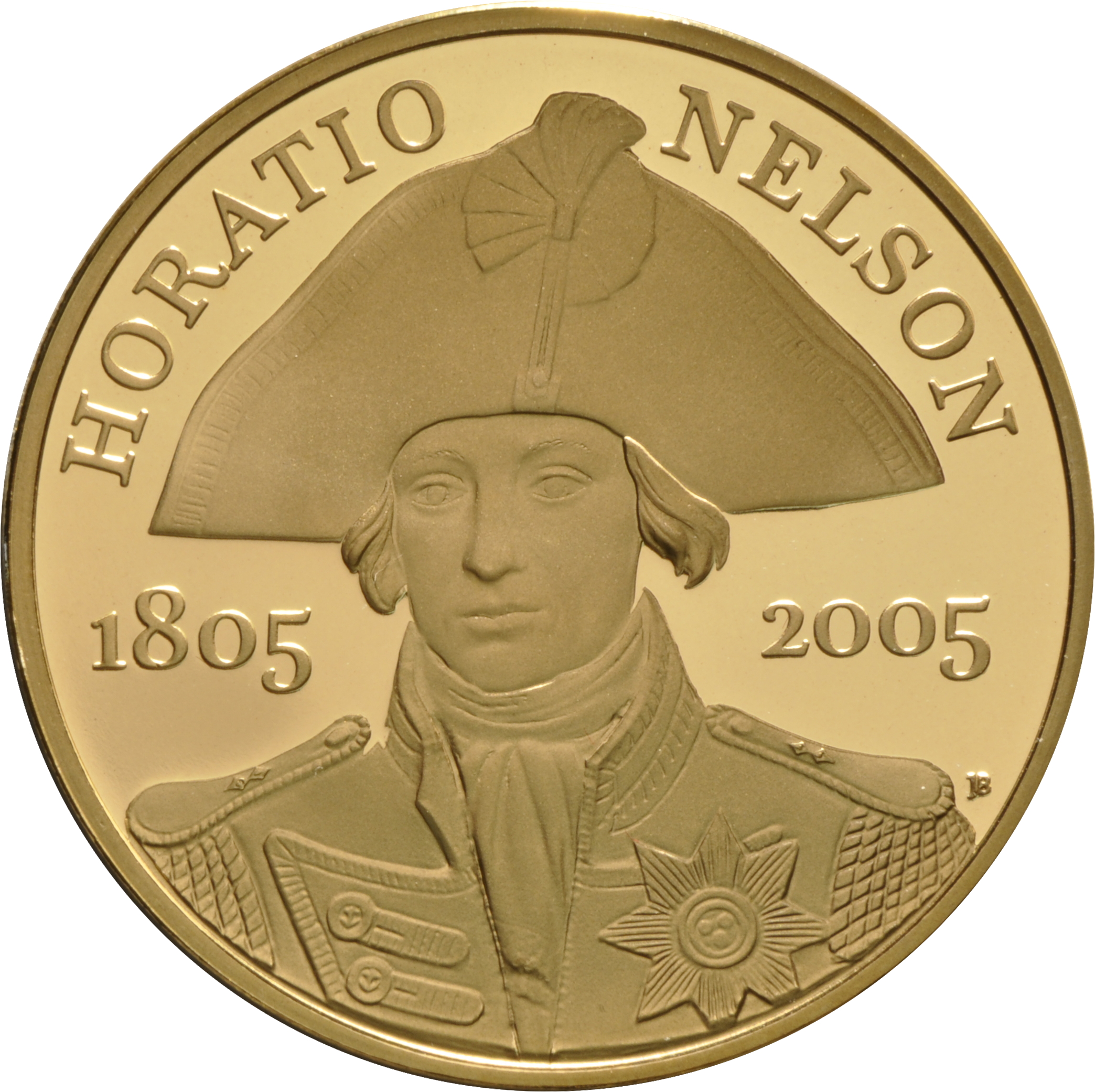 2005 Gold Five Pound Proof Coin Horatio Nelson 163 1 601