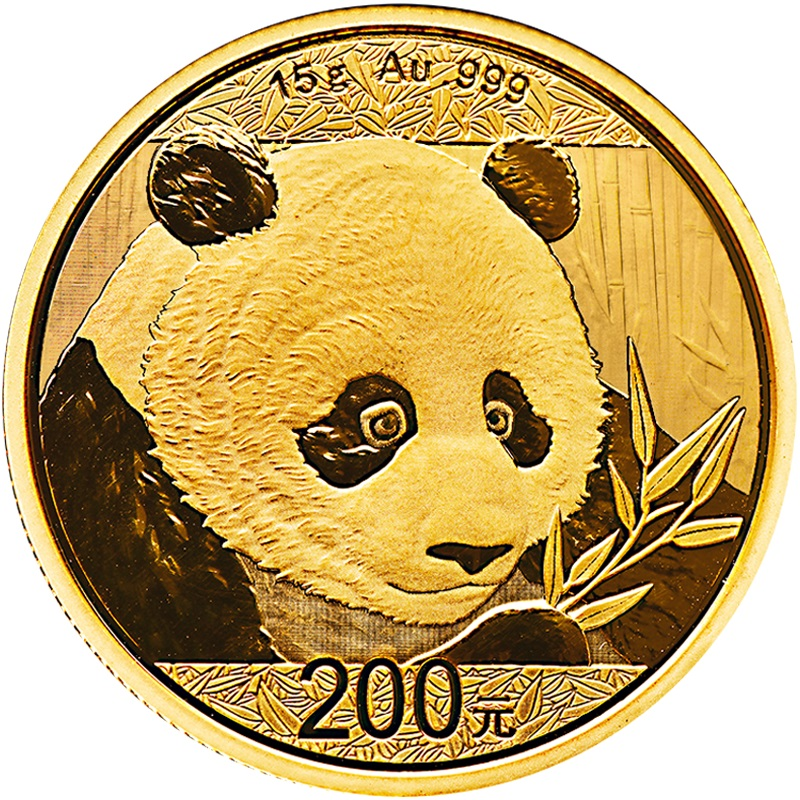 2018 15g Gold Chinese Panda Coin 163 569