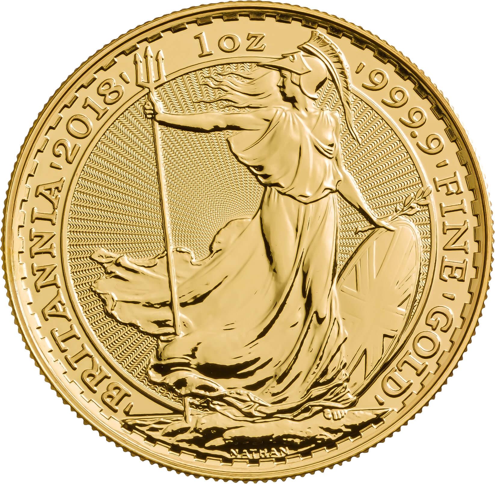2018 Britannia One Ounce Gold Coin