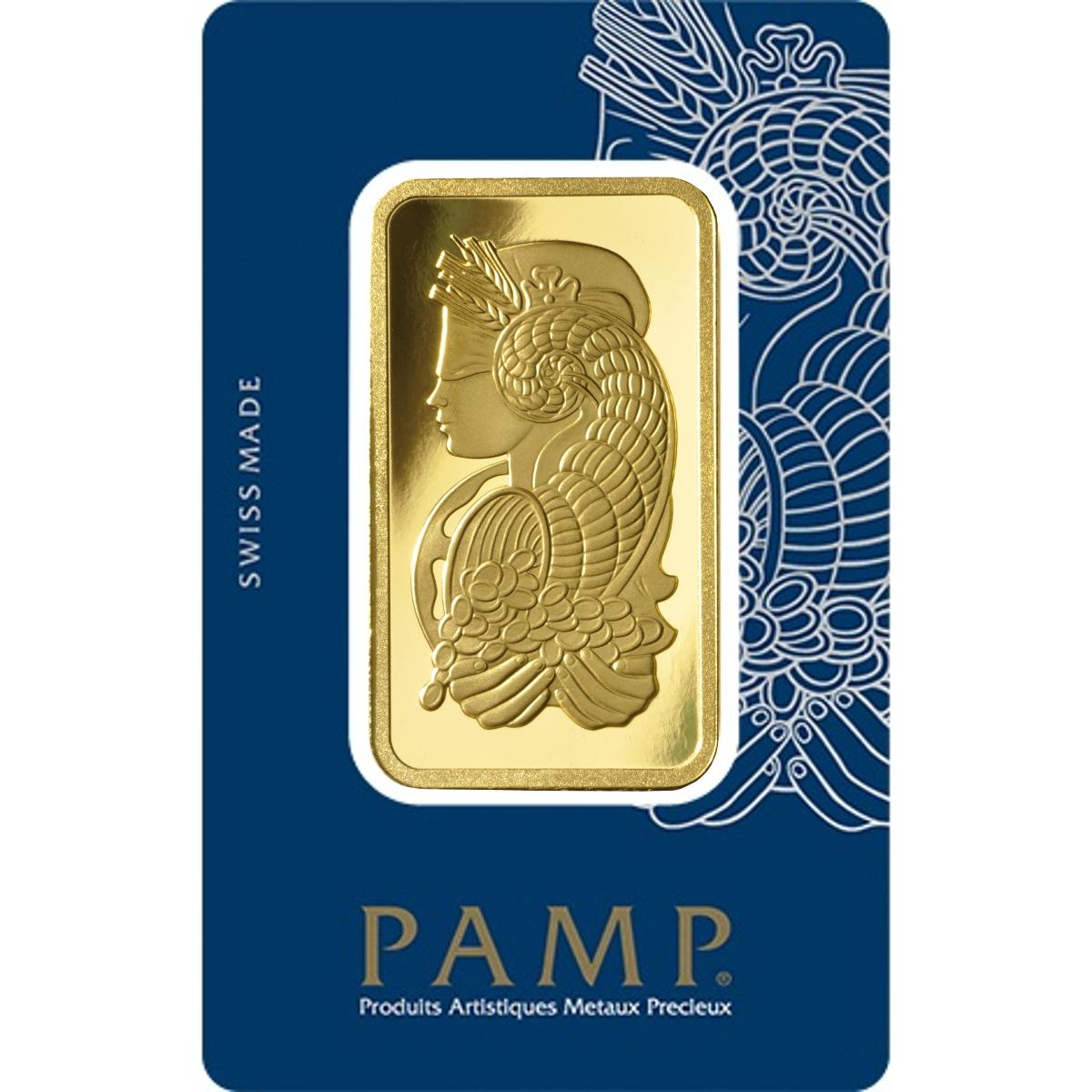 PAMP 100 Gram Gold Bar Minted