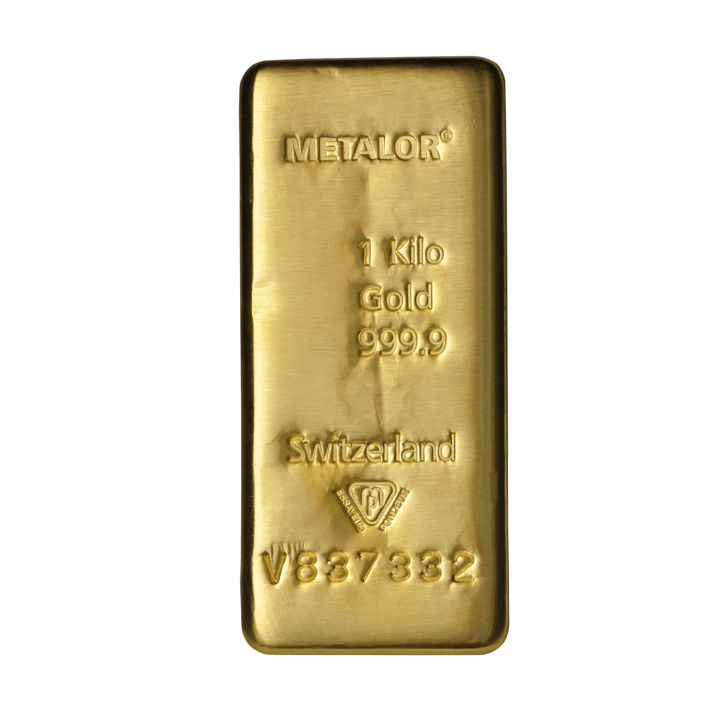 Metalor 1 Kilo Gold Bullion Bar