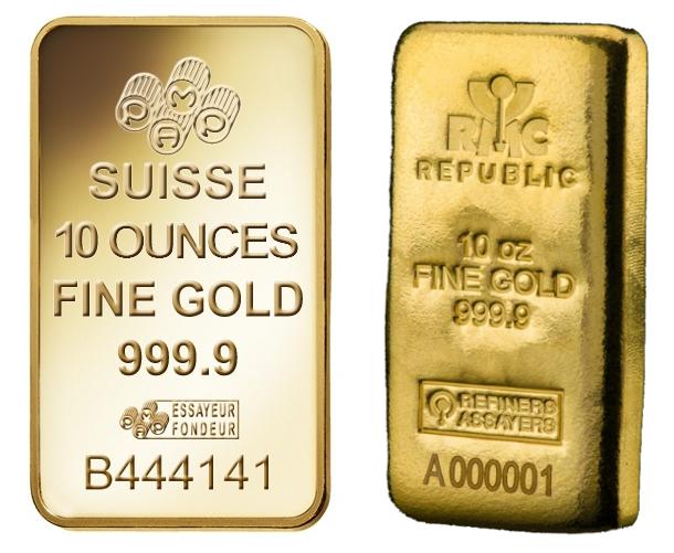 10oz Gold Bar Best Value (Brand New)