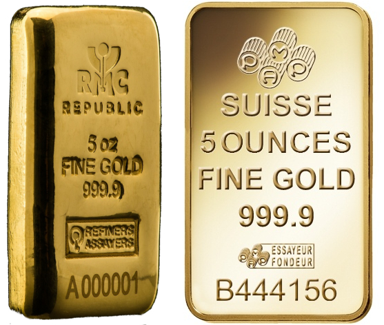 5oz Gold Bar Best Value (Brand New)