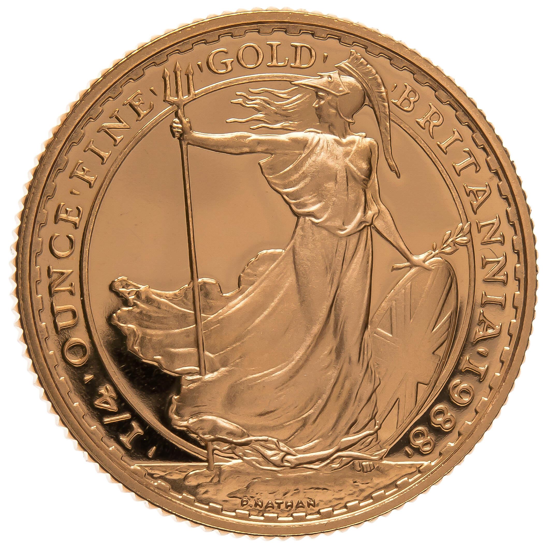 1988 Quarter Ounce Proof Britannia Gold Coin