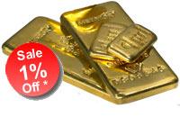 1% OFF Gold Bars