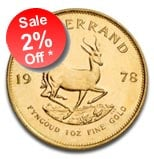 2% OFF 1oz Gold Krugerrands