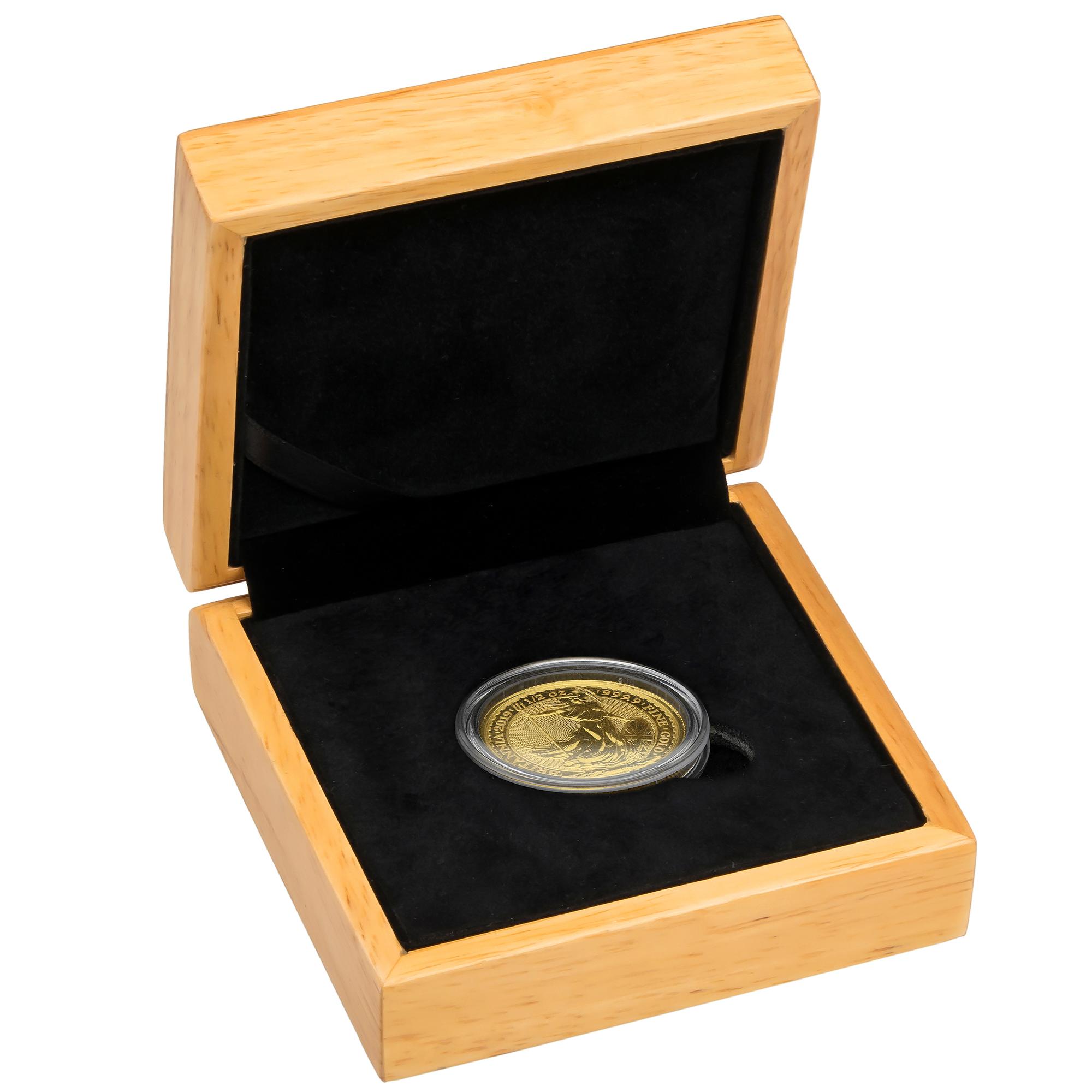 2019 Britannia Half Ounce Gold Coin Gift Boxed