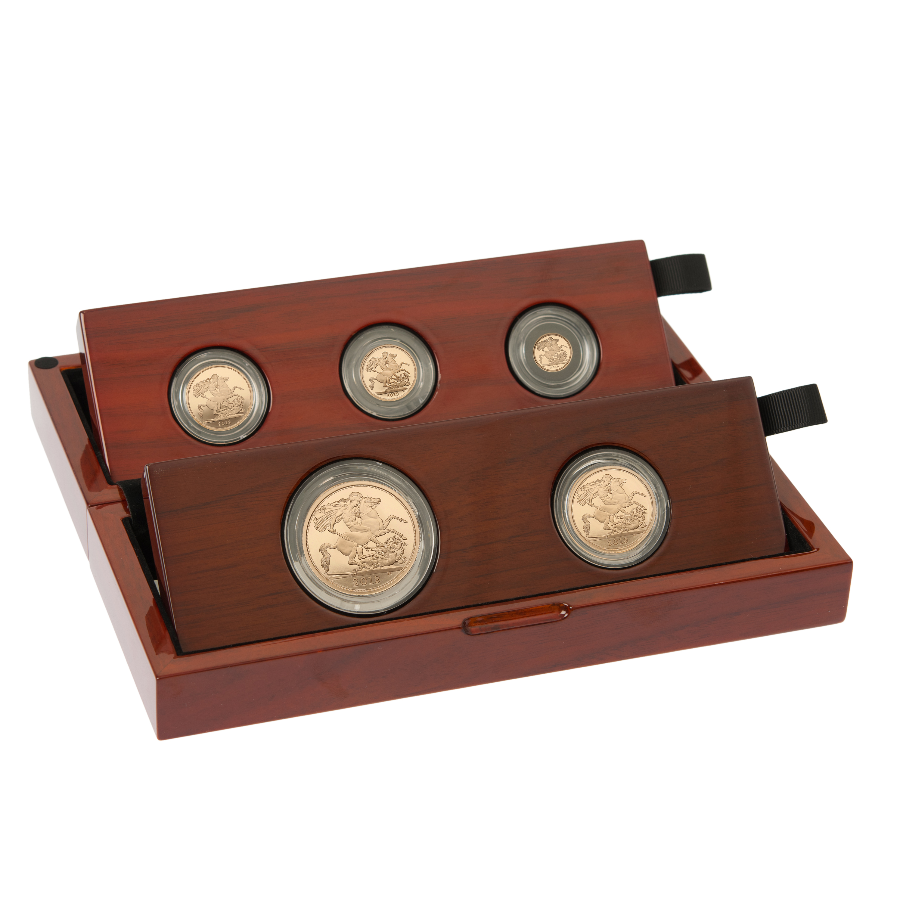 2019 Gold Proof Sovereign Five Coin Set - Fifth Head Boxed