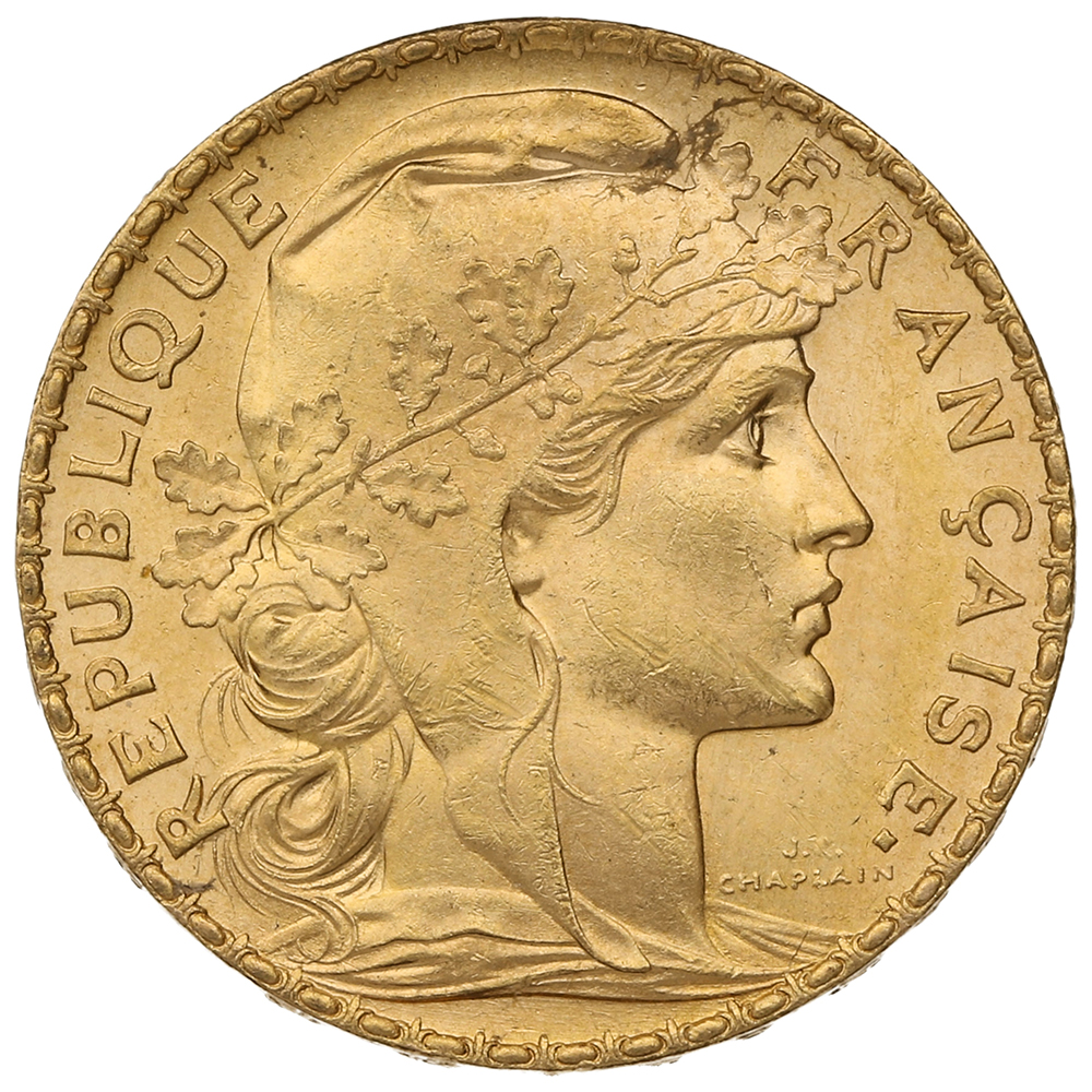 1906 20 French Francs - Marianne Rooster