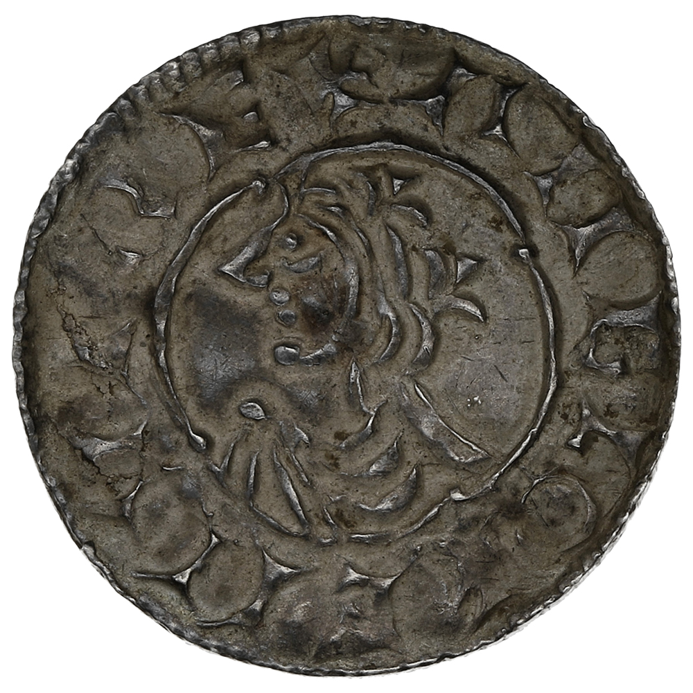 1016-1035 Cnut Hammered Silver Penny Quatrefoil type Cambridge Leofsige