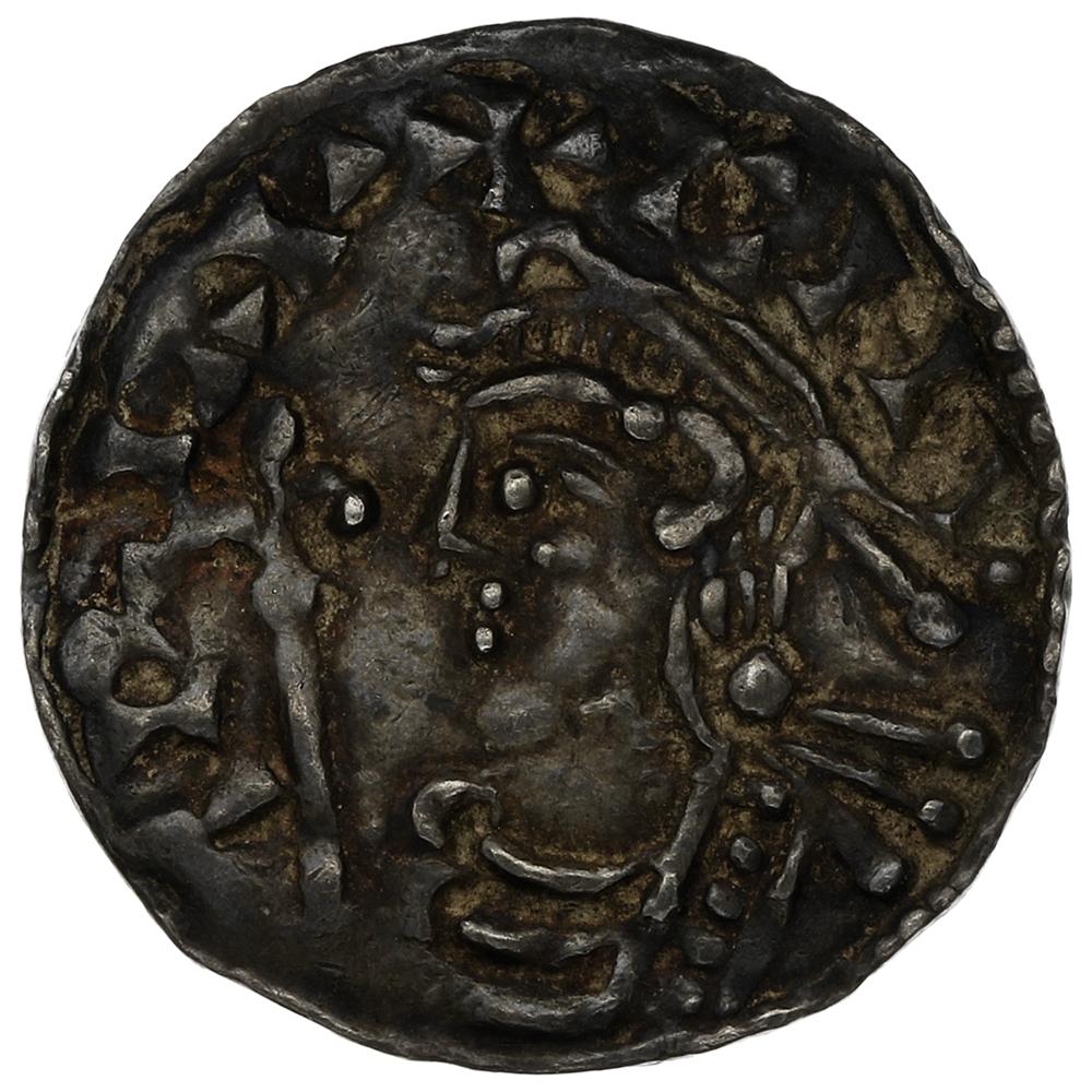 1016-1035 Cnut Hammered Silver Penny Short cross type London Eadread