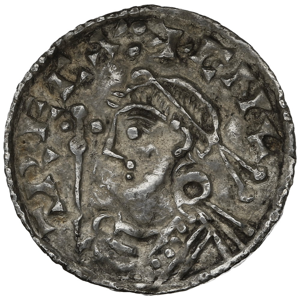 1016-1035 Cnut Hammered Silver Penny Short cross type Steyning Freothuwine