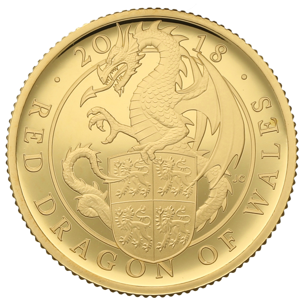 2018 1/4oz Quarter Ounce Proof Dragon Gold Coin Queen's Beasts